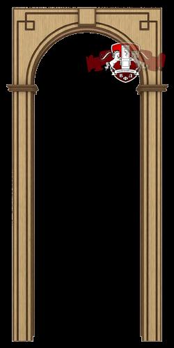 Межкомнатная арка, светлый дуб